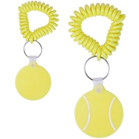 Customized Tennis Key Fob with Coil