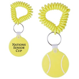 Tennis Key Fob with Coil