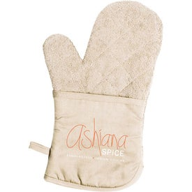 Terry Cloth Oven Mitt Branded with Your Logo