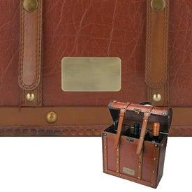 Tesoro III Wooden Triple Wine Box with Your Slogan