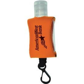 Custom Tethered Hand Sanitizer