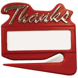 Company Thanks Letter Opener