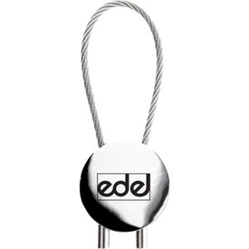 The Circolo Cavo Key Chain Printed with Your Logo