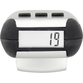 Classic Chrome Pedometer Branded with Your Logo