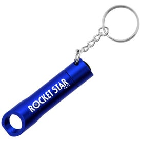 The Pop Light Bottle Opener Keychain Branded with Your Logo