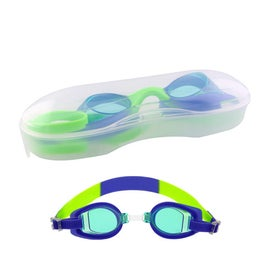 Customized Blue Children's Swim Goggles with Case