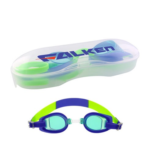 Blue Children's Swim Goggles with Case