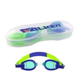 Blue Children's Swim Goggles with Case