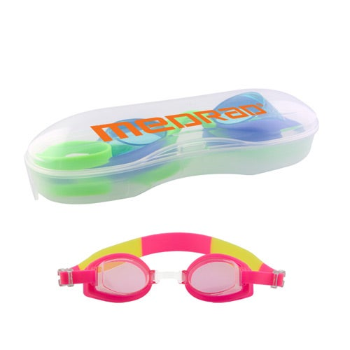 Pink Children's Swim Goggles with Cases