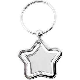 Personalized The Silver Stella Spinner Key Chain