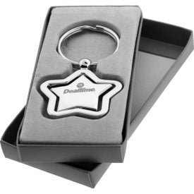 The Silver Stella Spinner Key Chain Imprinted with Your Logo