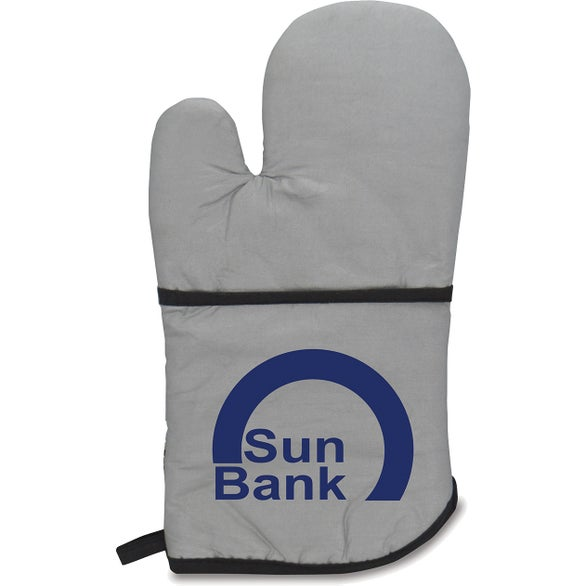 Silver Therma Grip Large Oven Mitt