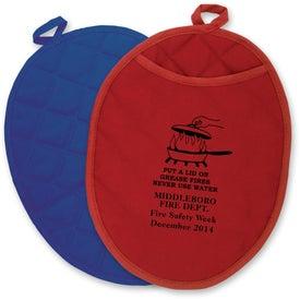 Custom Therma-Grip Oval Oven Mitt Pot Holder