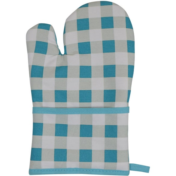 Blue Plaid Therma-Grip Oven Mitt
