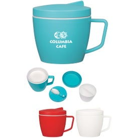 Thermal Mug with Spoon and Fork Set (14 Oz.)