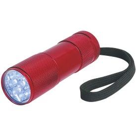 Logo The Stubby Aluminum LED Flashlight With Strap