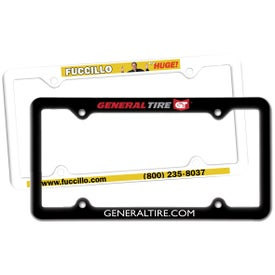 Thin Panel License Plate Frame (Digitally Printed)