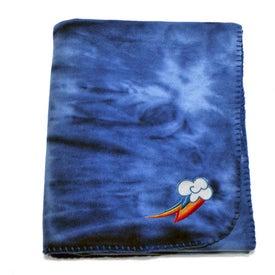 Tie Dye Fleece Blanket for Marketing