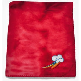 Tie Dye Fleece Blanket with Your Slogan