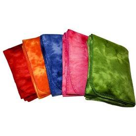 Tie Dye Fleece Blanket for Advertising