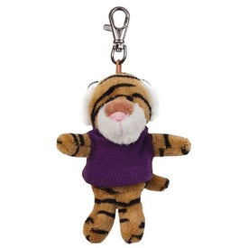 Tiger Plush Key Chain