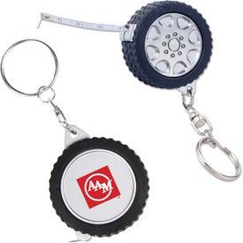 Tire Tape Measure Key Chain