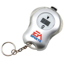 Tire Gauge on a Keychain Imprinted with Your Logo