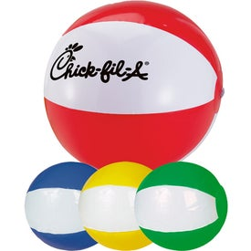 2-Tone Beach Ball Imprinted with Your Logo