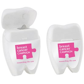 Tooth Shaped Dental Floss Printed with Your Logo