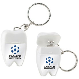 Custom Custom Tooth Shaped Dental Floss with Keychain