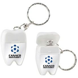 Custom Custom Tooth Shaped Dental Floss with Keychain