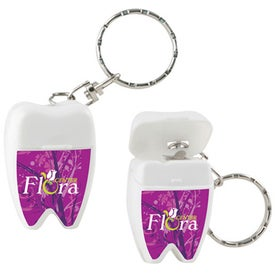 Customized Tooth Shaped Dental Floss with Keychain