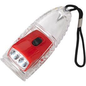 Logo Torpedo LED Lantern Flashlight With Strap