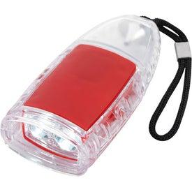 Torpedo LED Lantern Flashlight With Strap Imprinted with Your Logo