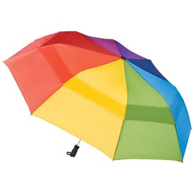 Totes Stormbeater Auto Open Folding Umbrella Imprinted with Your Logo