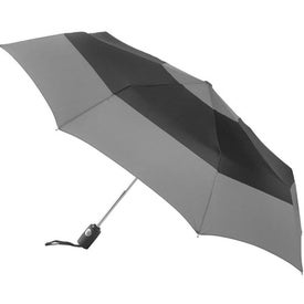 Totes Auto Open Close Color Block Umbrella Imprinted with Your Logo