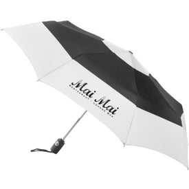 Logo Totes Auto Open Close Color Block Umbrella