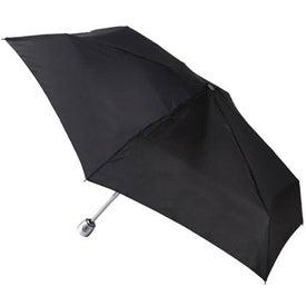 Monogrammed Totes Mini Auto Open Close Umbrella with Purse Case