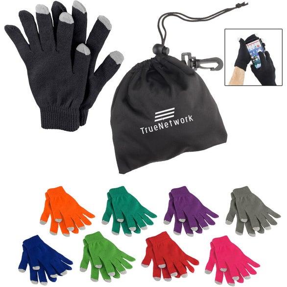 e2272db5ea5 Promotional Touchscreen Acrylic Gloves with Custom Logo for  10.23 Ea.