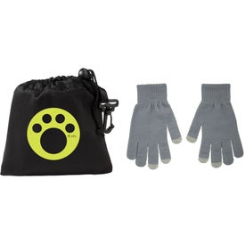 Monogrammed Touchscreen Gloves