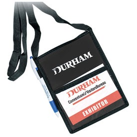 Personalized Vinyl Tradeshow Badge Holder