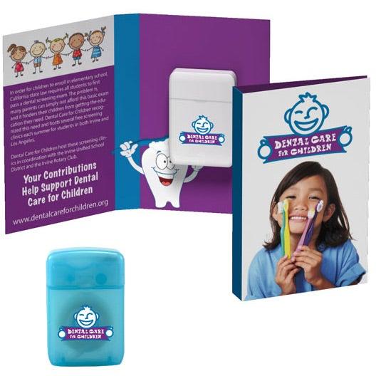 Tek Booklet with Traditional Rectangular Shaped Dental Floss