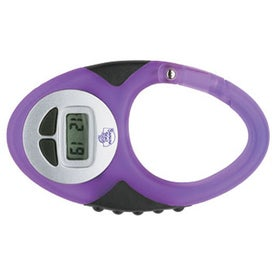 Translucent Digital Clip Watch with Your Slogan