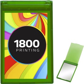 Translucent Rectangle Compact Mirror with Your Logo