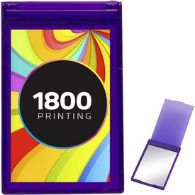 Translucent Rectangle Compact Mirror Imprinted with Your Logo