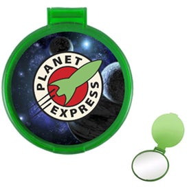 Promotional Translucent Round Compact Mirror
