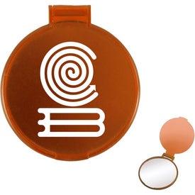 Translucent Round Compact Mirror for Customization
