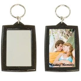 Translucent Sparkle Keytag w/Mirrors for Customization