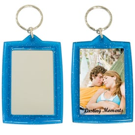 Translucent Sparkle Keytag w/Mirrors for Advertising