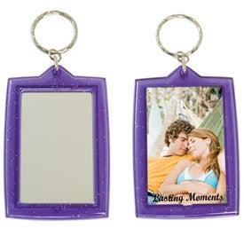Monogrammed Translucent Sparkle Keytag w/Mirrors